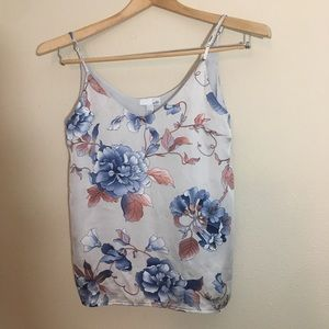 14th & union small floral tank top
